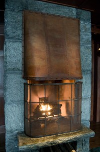 Custom Fireplace Hood Screen