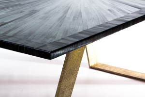 Custom brass table legs